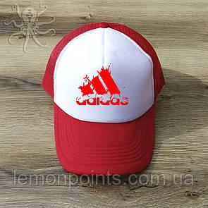 Кепка мужская спортивная Adidas K104 красная