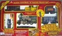 Железная дорога 2031  р/у, паровоз 35см, звук, свет, дым, вагоны 3шт, на бат-ке, в кор-ке