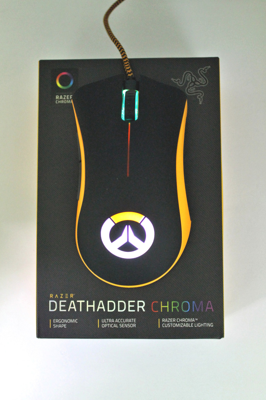 Мышь Razer Death Adder Overwatch USB Black/Orange