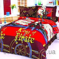 Детское полутроспальное постельное белье для мальчика Пираты