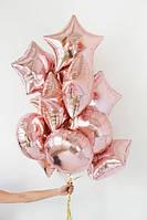 Фонтан из фольгированных шаров
