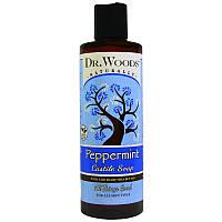 """Кастильское мыло с перечной мятой Dr. Woods """"Peppermint Castile Soap"""" для всех типов кожи (236 мл)"""
