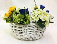 Корзина плетеная белая, корзины подарочные, Днепр