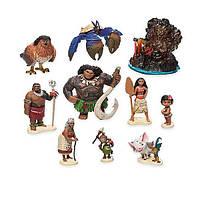 Игровой набор Моана Дисней / Disney Moana Figure Play Set, 10 штук, фото 1