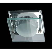 Светильник точечный квадратный со стеклом BRILUM S50SG хром
