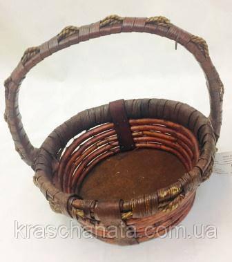 Корзина плетеная коричневая, корзины подарочные, Днепр