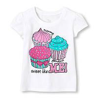 Детские футболки для девочек The Children's Place; 2, 4 года