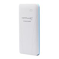 Power Bank KONFULON, EDGE 2, 10 000 mAh, White-Blue, Білий з голубим/ УМБ/Резервний акумулятор/Портативна батарея