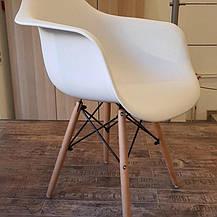 Кресло белое пластиковое в современном стиле Leon для баров, кафе, ресторанов,стильных квартир, фото 3