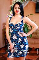 Платье с цветочным рисунком