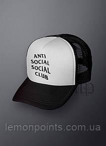 Кепка мужская спортивная Anti Social Club K119 белая