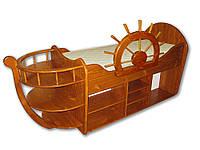 """Детская кровать из дерева """"Корабль"""""""