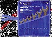 Набор ключей рожковых, 6 - 19 мм, 6 шт., CrV, фосфатированные, ГОСТ 2839 СИБРТЕХ 15220