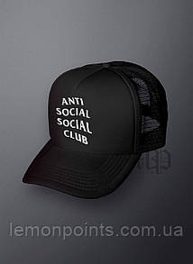 Кепка мужская спортивная Anti Social Club K120 черная