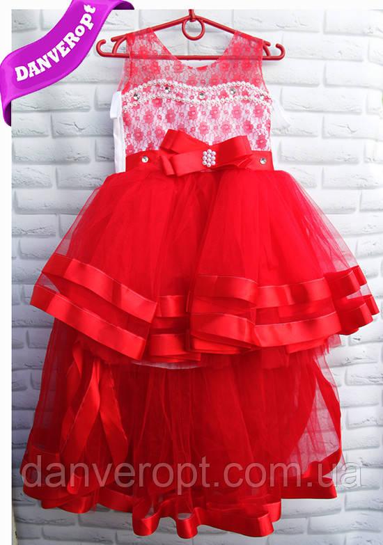 76e50ea303ee279 Платье детское бальное стильное со шлейфом на девочку 5-7 лет, купить оптом  со