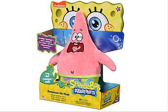 Мягкая игрушка SpongeBob Exsqueeze Me Plush  Patrick Burp со звуком