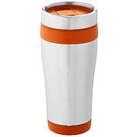 Термокружка металлическая Elwood оранжевая, 470 мл, от 10 шт