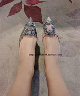 Блестящие  босоножки с пряжкой камни  2 вида, фото 1