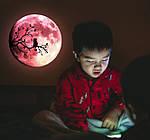 Люмінесцентна наклейка - Світиться місяць (30х30см), фото 3