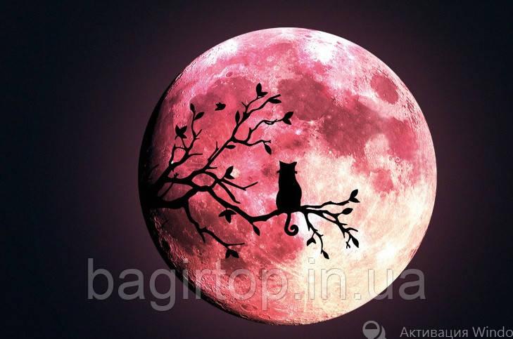 Люмінесцентна наклейка - Світиться місяць (30х30см)