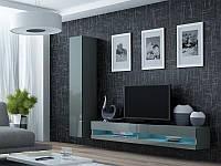 """Стінка в вітальню """"Віго Нью 9/ Vigo New 9"""" від Cama ( сірий )., фото 1"""