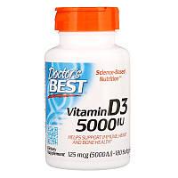 Vitamin D3 125 мкг 5000 IU Doctor's Best 180 капсул