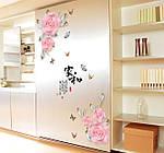Интерьерная наклейка - Розовые цветы  (169х103см)  , фото 4