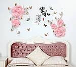 Интерьерная наклейка - Розовые цветы  (169х103см)  , фото 6