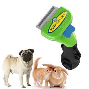 Щетка фурминатор для вычесывания собак и кошек с кнопкой FURminator Small Dog 4 см 130752