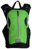 Велорюкзак спортивный Paso17-1608/R черно-зеленый