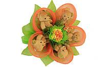 Букет из игрушек Апельсиновый цветок