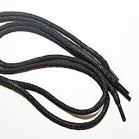 Шнурки для обуви круглые, черные (50пар)