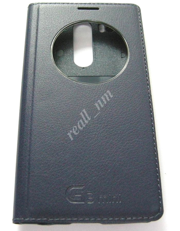 Темно-синий чехол Quick Circle для смартфона LG G3 s D724 (G3 mini) d722