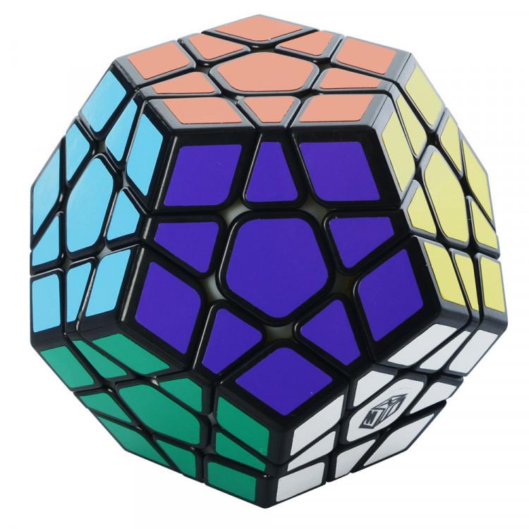 Кубик 0934C-3 QiYi X-Man Megaminx (Plane Black-Base)  8см, в кор-ке, 9,5-7,5-13,5см Кубик 0934C-3 QiYi X-Man Megaminx (Plane Black-Base)  8см, в