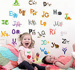 Інтер'єрна наклейка - Англійський алфавіт (100х140см), фото 2