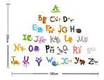 Інтер'єрна наклейка - Англійський алфавіт (100х140см), фото 5