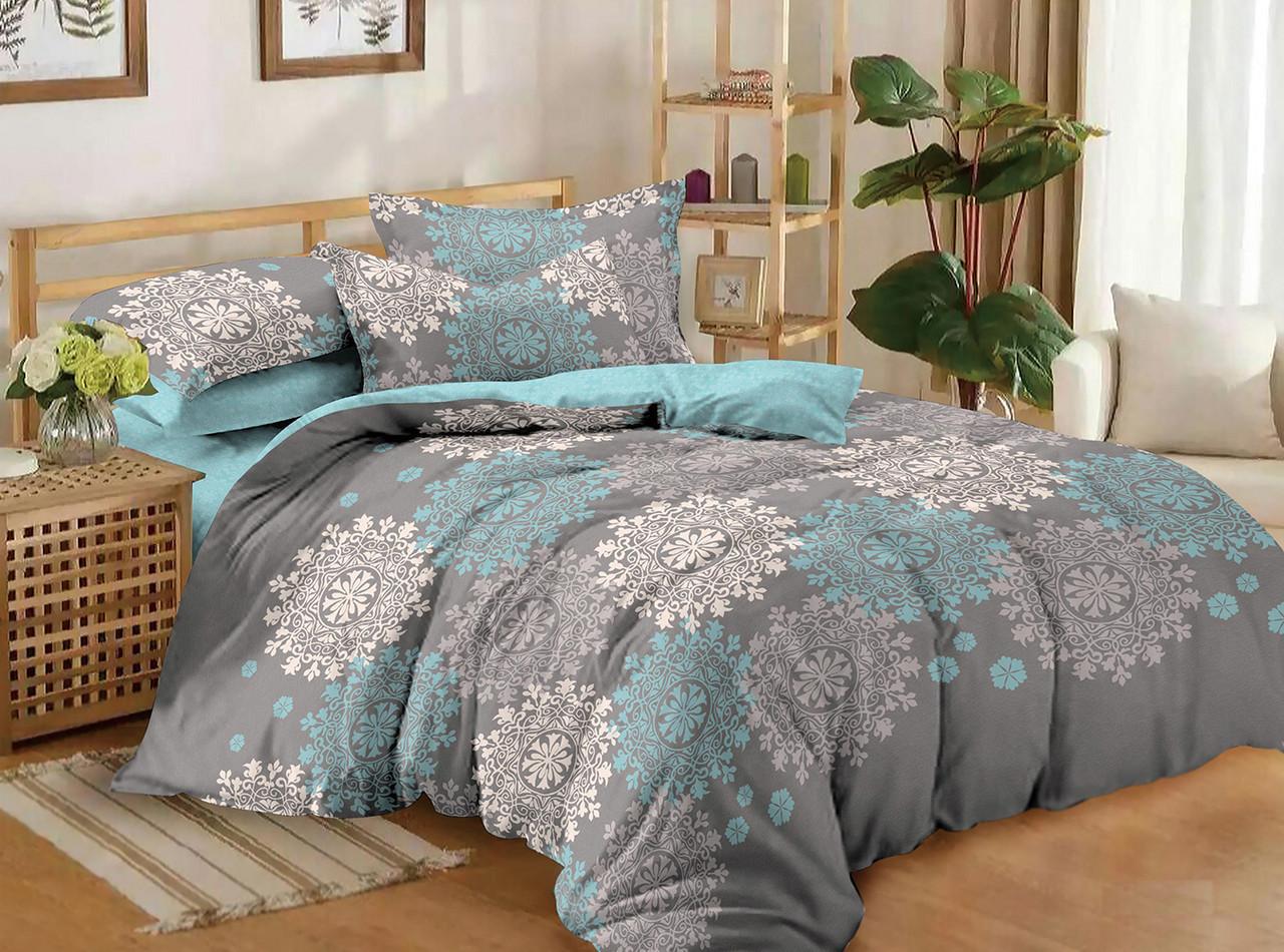 Полуторный комплект постельного белья 150*220 сатин (10536) TM КРИСПОЛ Украина
