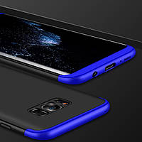 Чехол GKK 360 для Samsung S8 бампер накладка Black-Blue