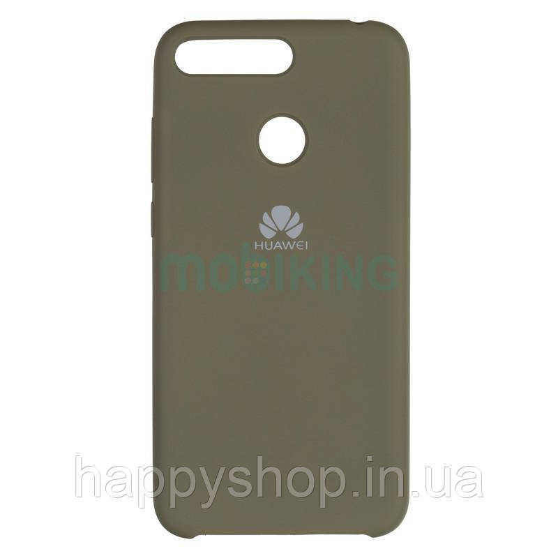 Оригінальний чохол Soft touch для Huawei Y6 Prime 2018 (ATU-L31) Olive Green
