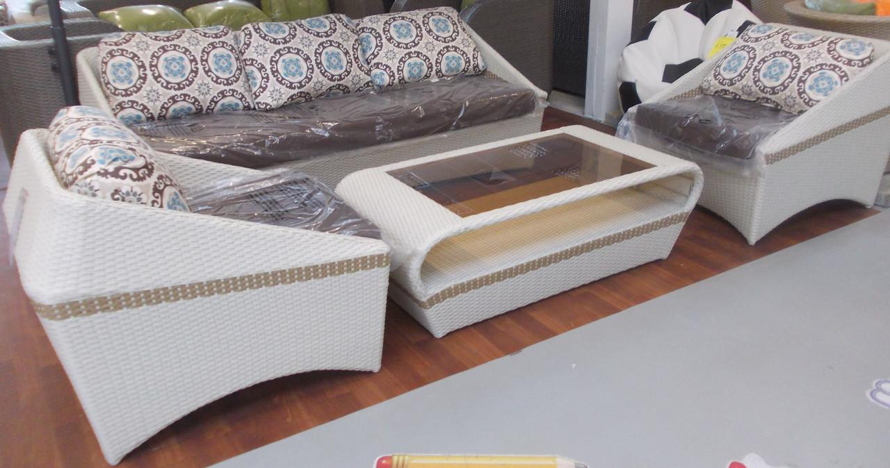 """Комплект мебели """"Айвори"""" из искусственного ротанга"""