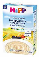 Молочная кукурузная каша с фруктами и пребиотиками HiPP хипп hipp,250 г
