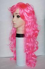 Парик розовый волнистый (75 см), фото 3