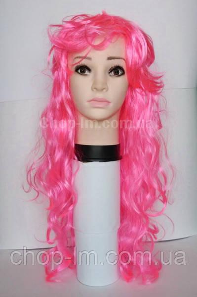 Парик розовый волнистый (75 см)