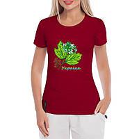 Женская футболка с принтом Калина-Украина, фото 1