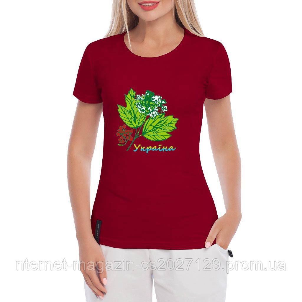 Женская футболка с принтом Калина-Украина