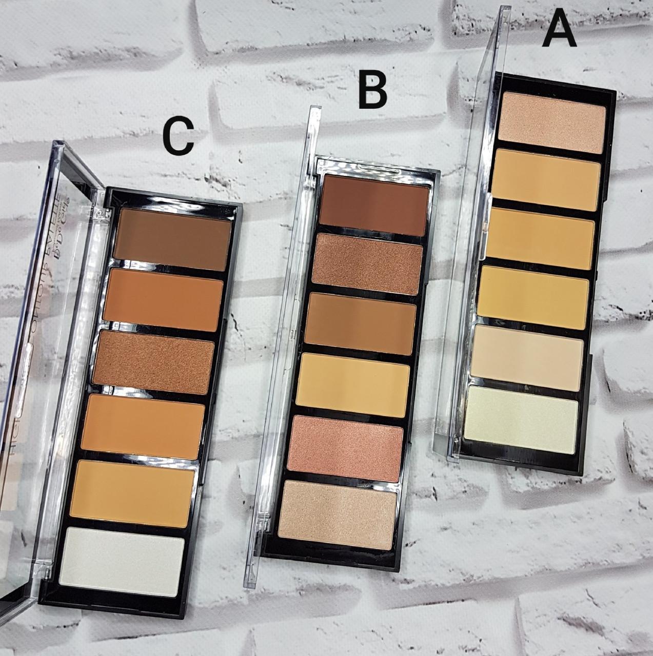 Палетка для контуринга и хайлайтеры DoDo Girl Highlight & Countour Palette