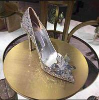 Хрустальные туфельки  Золушки., свадебные туфли
