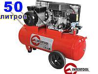 Intertool PT-0011 воздушный компрессор с ременным приводом