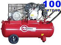 Intertool PT-0036 трехцилиндровый электрокомпрессор