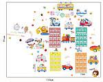 Детская интерьерная наклейка -  транспорт (114х91см)  , фото 4